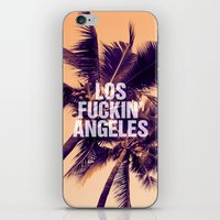 los angeles iPhone & iPod Skins featuring Los Angeles by Text Guy
