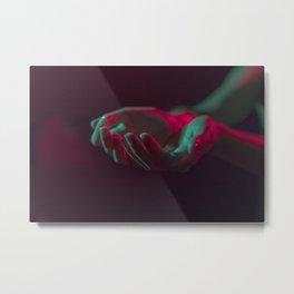Neon Hands Metal Print
