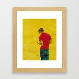 Kotel Davening Framed Art Print
