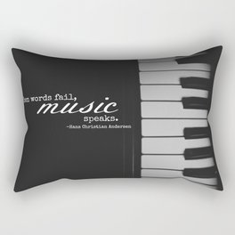 Music Speaks Rectangular Pillow