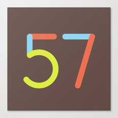57 Canvas Print