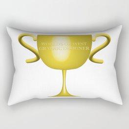 World's Okayest Graphic Designer Rectangular Pillow