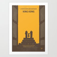No133 My KING KONG minimal movie poster Art Print