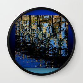 little lost grebe Wall Clock