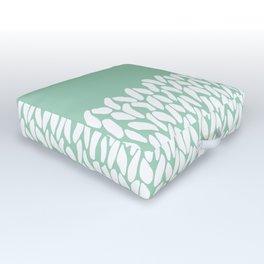 Half Knit Mint Outdoor Floor Cushion