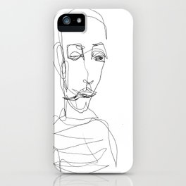 He didn`t really care... iPhone Case
