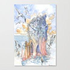 La Citta' Scoglio Canvas Print