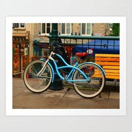 I love my blue bike Art Print