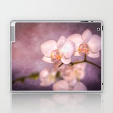 the white orchid - violet texture Laptop & iPad Skin