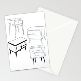 Mid Century Modern Nightstands Stationery Cards