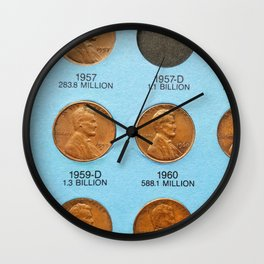 Pennies for Your Thoughts Wall Clock