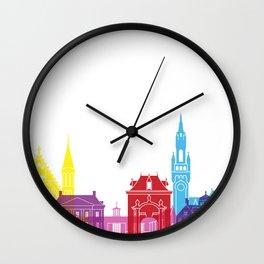 The Hague skyline pop Wall Clock