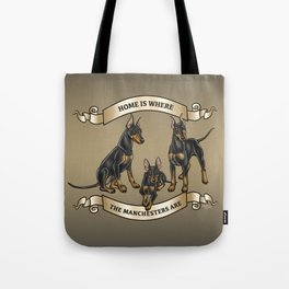 Home is where the Manchesters Are Tote Bag