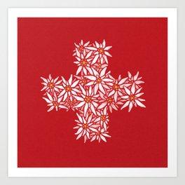 Swiss Edelweiss Art Print