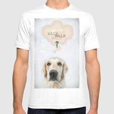 DOG White Mens Fitted Tee MEDIUM