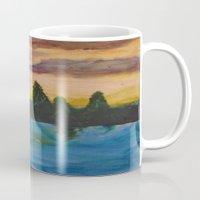maine Mugs featuring Maine by Lissasdesigns