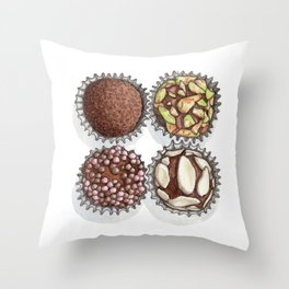 Candie & Sweets: Truffles Throw Pillow