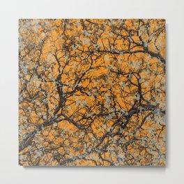 Hunter Orange Hunting Camo Pattern Camouflage Metal Print