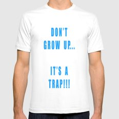 IT'S A TRAP!!! MEDIUM White Mens Fitted Tee