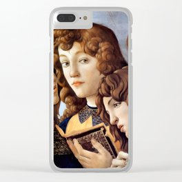 Sandro Botticelli - Angels 2. detail Clear iPhone Case