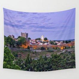 Braganca, Portugal at dusk Wall Tapestry