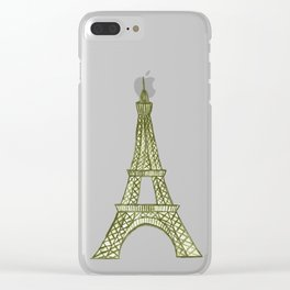 Eiffel tower GOLD / La tour Eiffel - PAINTED Clear iPhone Case