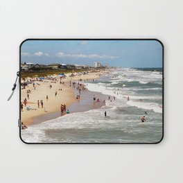Tourist At Kure Beach Laptop Sleeve