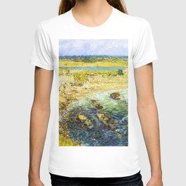 Classical Masterpiece 'Bailey's Beach, Newport, Rhode Island' by Frederick Childe Hassam T-shirt