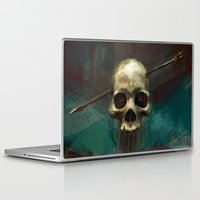robin hood Laptop & iPad Skins featuring Robin by Anne the Viking