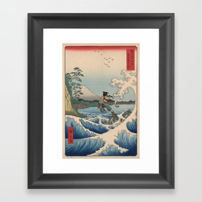 Suruga satta no kaijō Korra Gerahmter Kunstdruck
