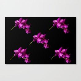 Dark Orchid Floral Canvas Print