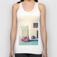 radio Tank Tops featuring Retro Radio by Olivia Joy StClaire