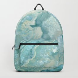"""Aquamarine Pastel and Teal Agate Crystal"" Backpack"