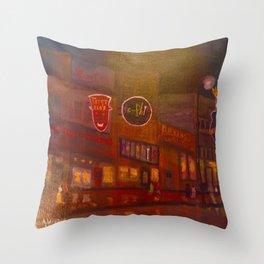 Evening on Beale Street Throw Pillow