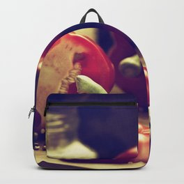 #Fresh #red +peppers in #retro #still life Backpack