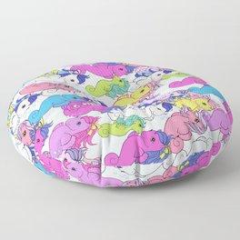 g1 my little pony sea pony collage Floor Pillow