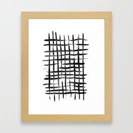 Natural Grid Framed Art Print