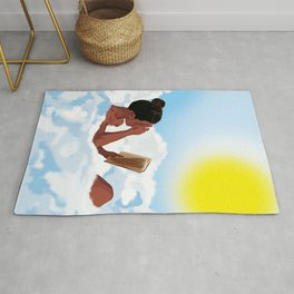 Reading on Clouds Rug