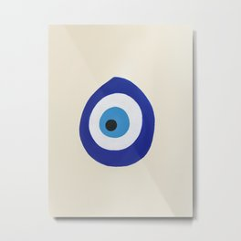 Blue Evil Eye Metal Print