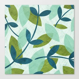 Simple Leaves Canvas Print