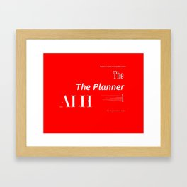 The Planner Framed Art Print