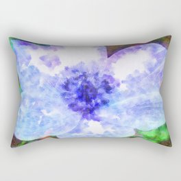 Blue Anemone Watercolor Rectangular Pillow