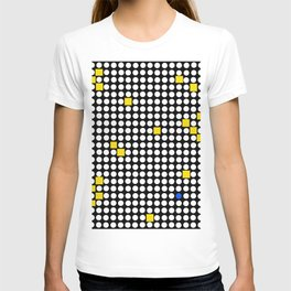 Halftone with Yellow Squares T-shirt