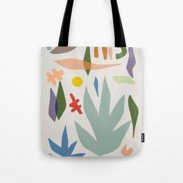 scandinavian leaves cut out Tote Bag