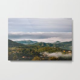 View of the Valley of Sacco - Italian hilltop towns in a morning clouds - Fine art travel landscape photography Metal Print