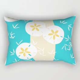 Beachy Sand Dollars + Sandpipers Pattern Rectangular Pillow
