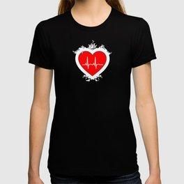 Cute Heartbeat Romantic Love T-shirt