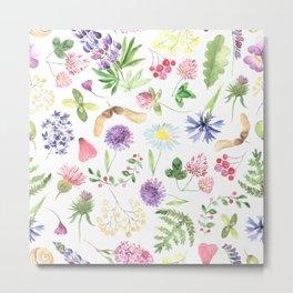 Watercolor Wildflowers #1 Metal Print