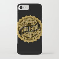 inner demons iPhone & iPod Cases featuring Inner Demons by Indigo Perez