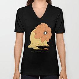 The Cowardly Lion Unisex V-Neck
